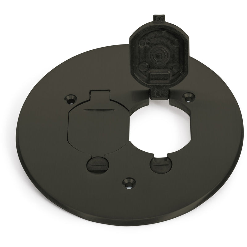 Lew Electric TCP-2-LR-DB 2 Flip Lid Dark Bronze Cover/Flange 32 Series