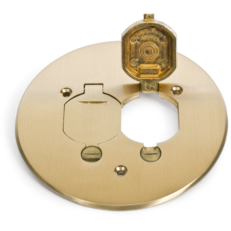 Lew Electric TCP-2-LR Flip Lid Brass Cover/Flange for 32 Series Boxes