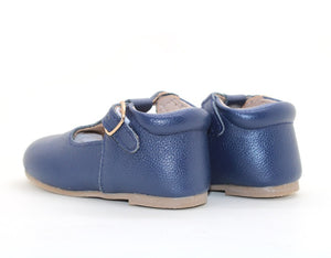 Mary Jane Hard Sole - Navy