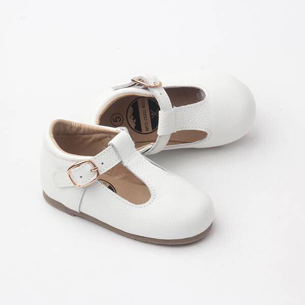 Mary Jane Hard Sole - White