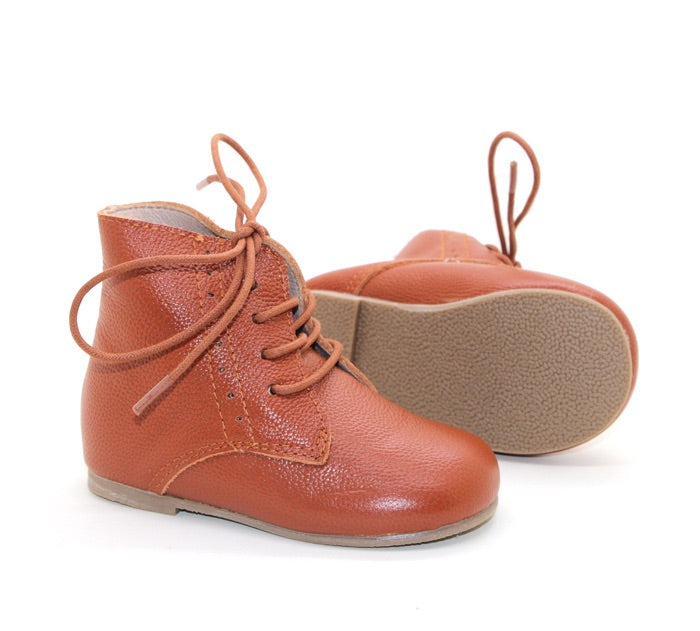 Vintage Lace Up Boot - Indie Brown