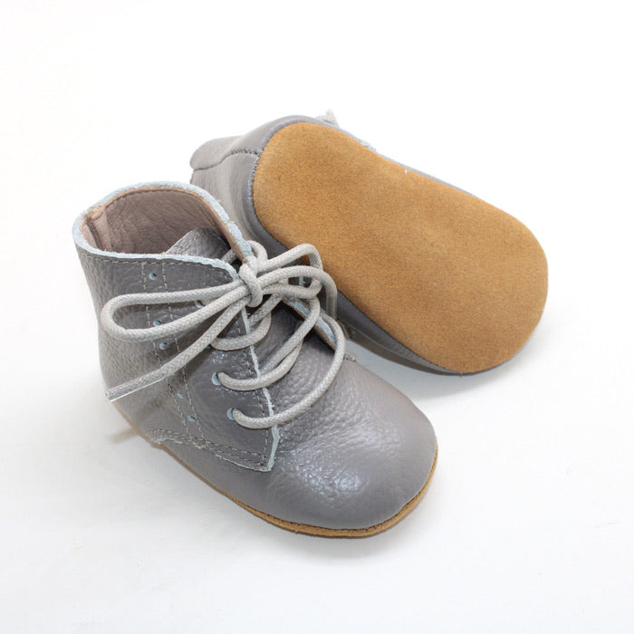 Vintage lace up boot - Grey
