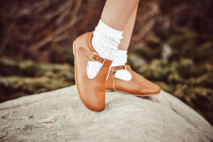 Mary Jane - Limited Edition Scalloped Tan