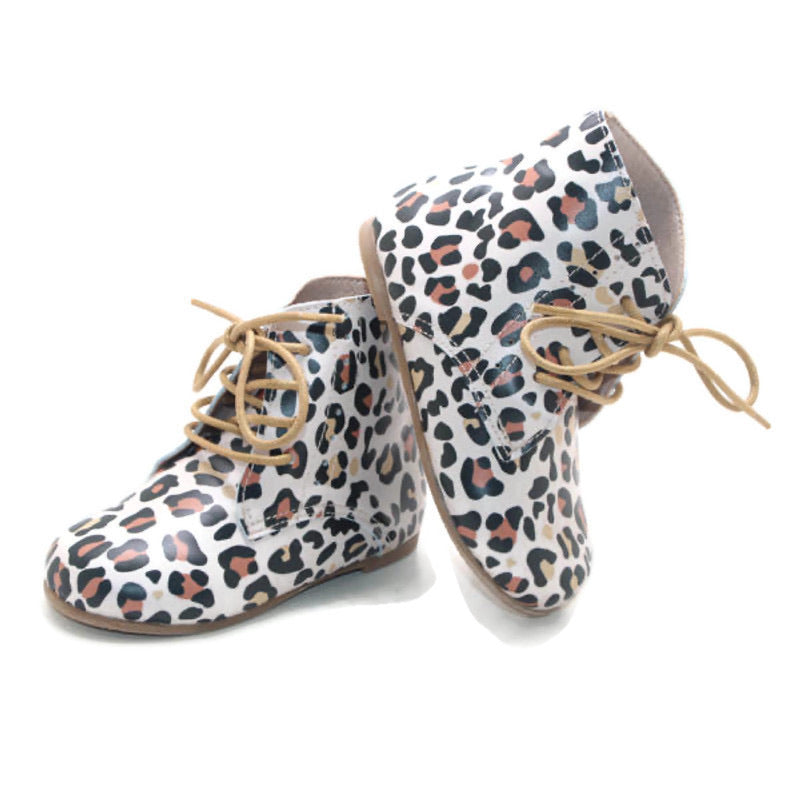 Vintage Lace Up Boot - Leopard - westcoastmocs