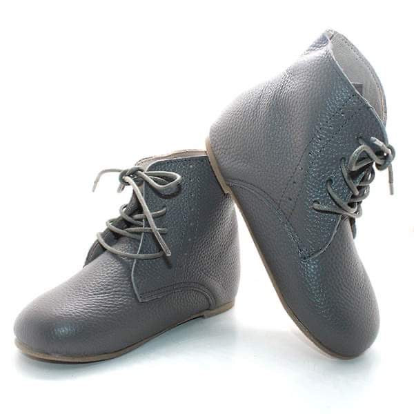 Vintage Lace Up Boot - Slate