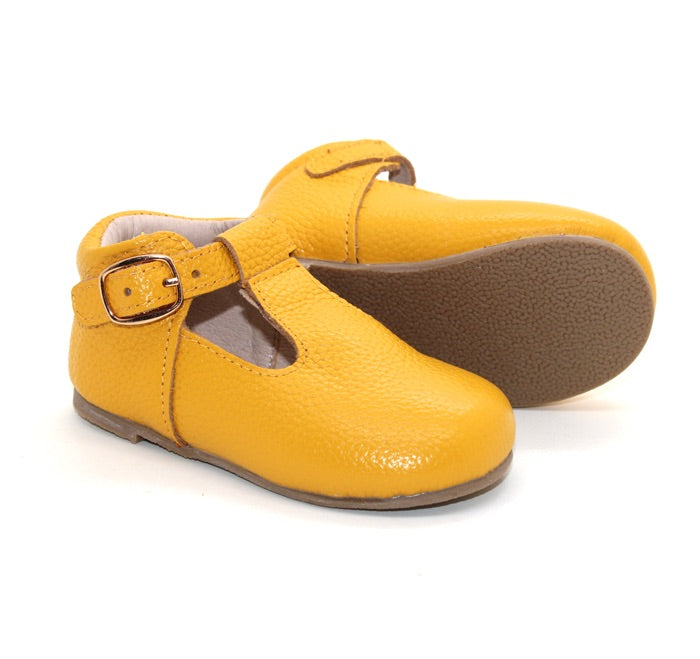 Mary Jane Hard Sole - Mustard