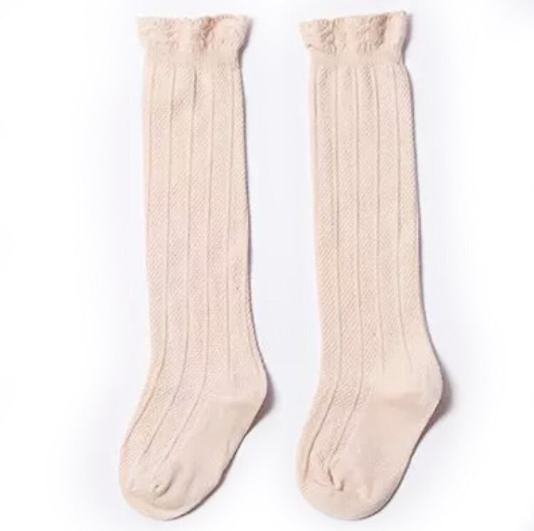 Knee Socks - Cream