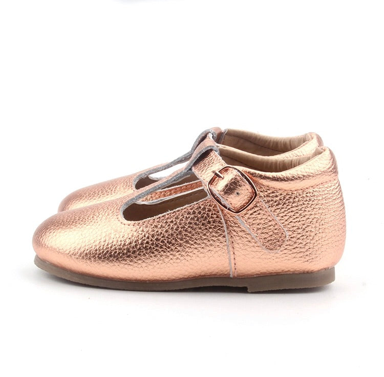Mary Jane Hard Sole - Rose Gold