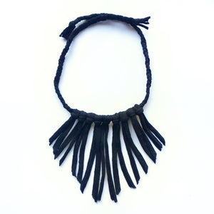 Boho Tshirt Fringe Necklace