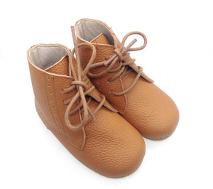 Vintage Lace Up Boot - Tan