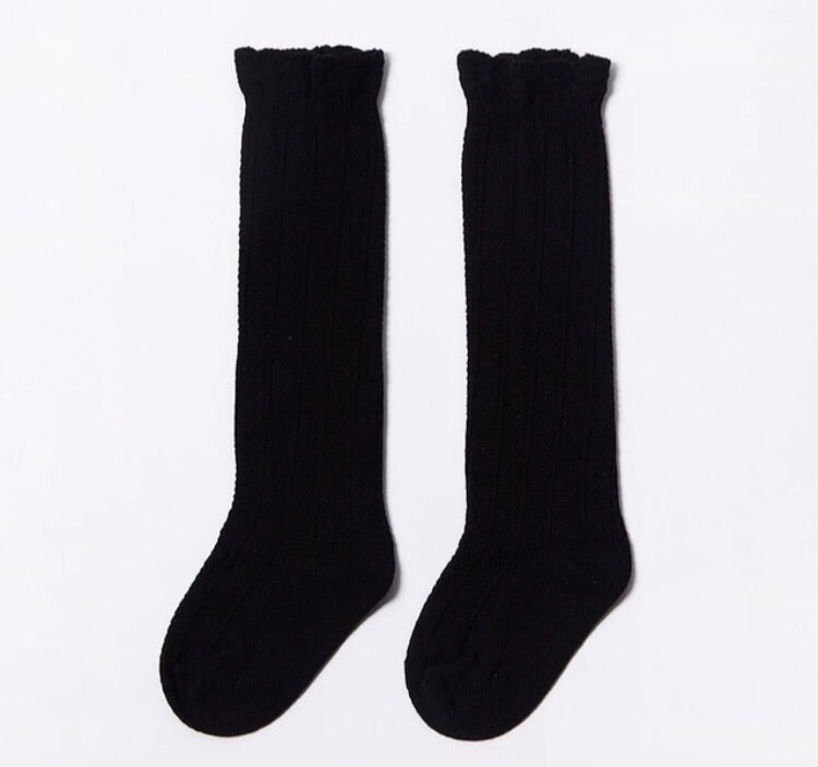 Knee Socks -Black - westcoastmocs