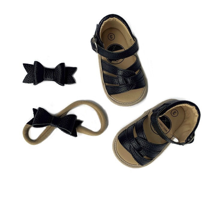 Baby Sandal - Rubber Sole - Black