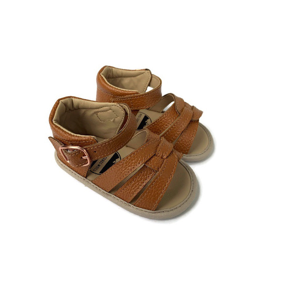 Baby Sandal - Rubber Sole - Tan