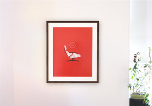Mid Century Eames Lounge Chair Poster