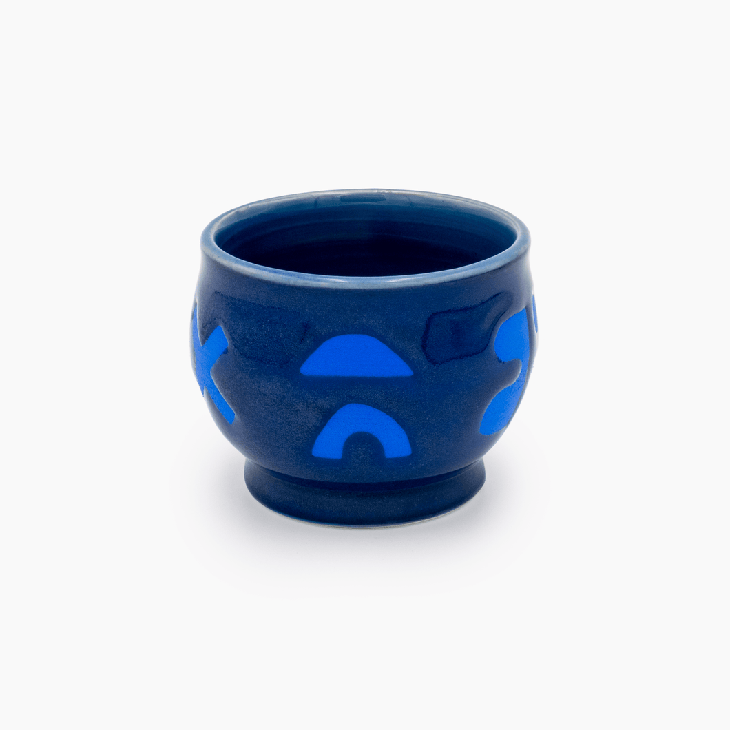 Royal Blue Shapes Cup
