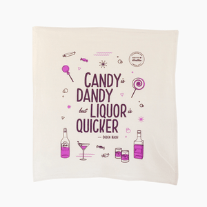 Candy is Dandy Tea Towel