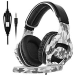 Over Ear Stereo Gaming Headset with Mic Bass Volume Control for Xbox One PS4 PC PC Laptop [White & Black]