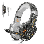 Stereo Gaming Headset for PS4, Xbox One, PC, Professional 3.5mm Noise Isolation Over Ear Headphones with LED Lights, Mic & Volume Control Perfect for Laptop Mac iPad and Phones