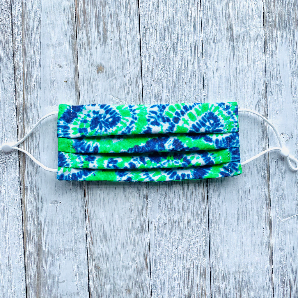 Green & Blue Tie Dye Mask