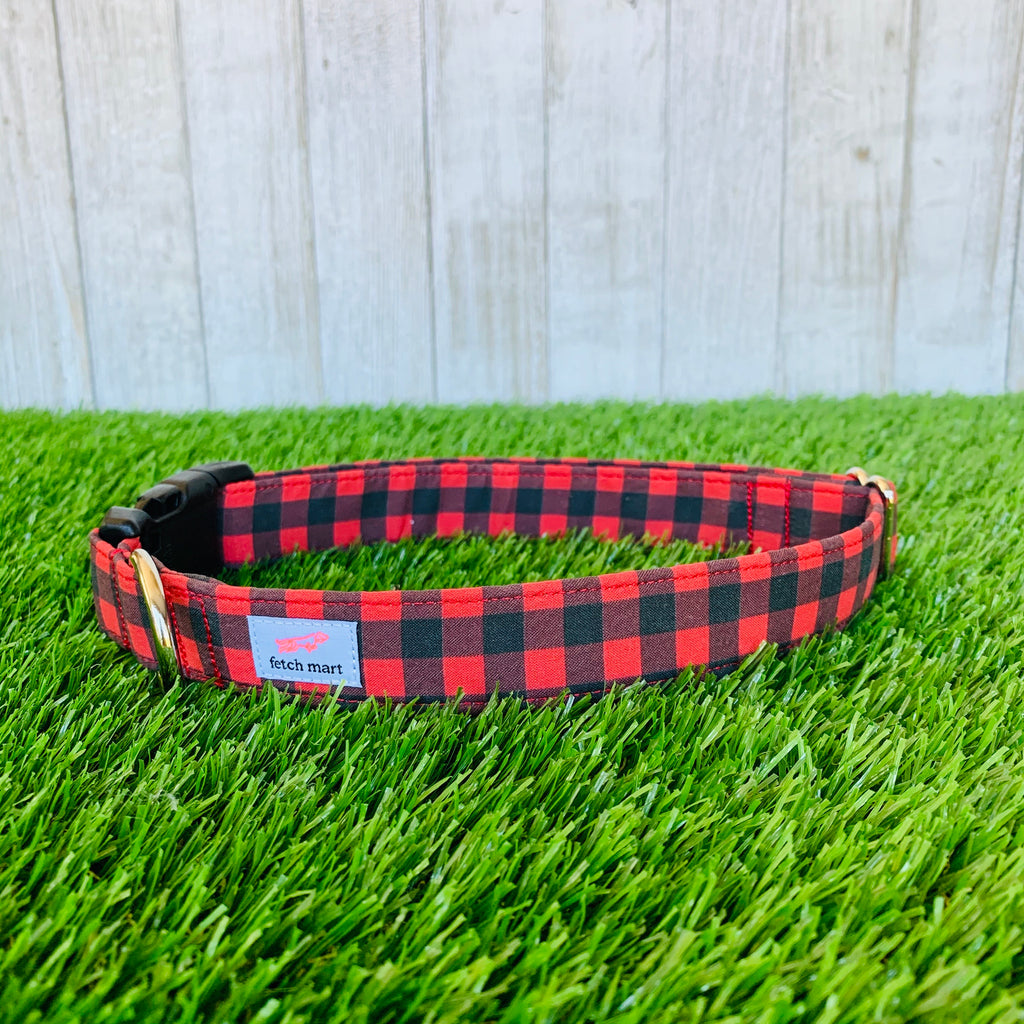 Red Buffalo Check Leash