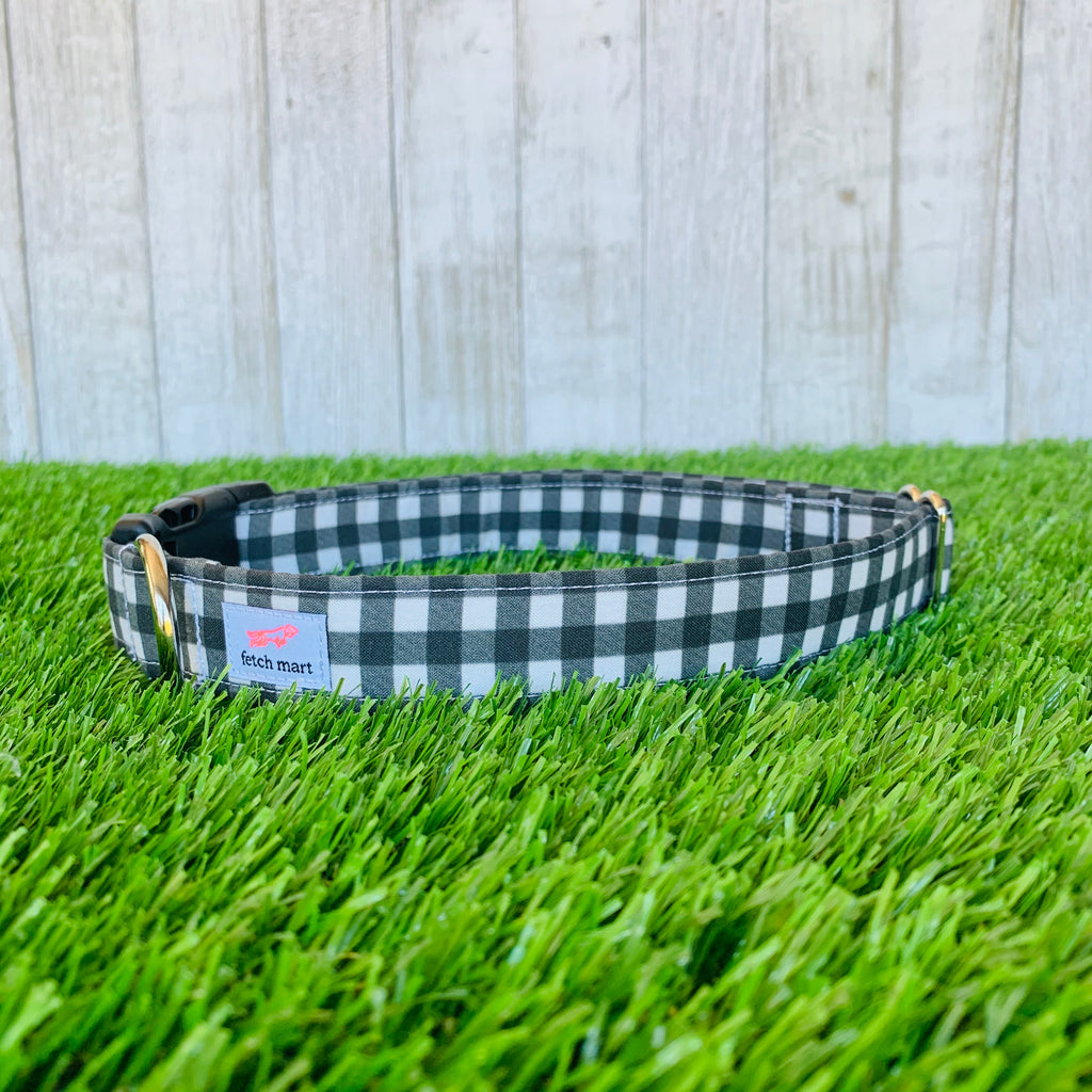 Black & White Buffalo Check Leash