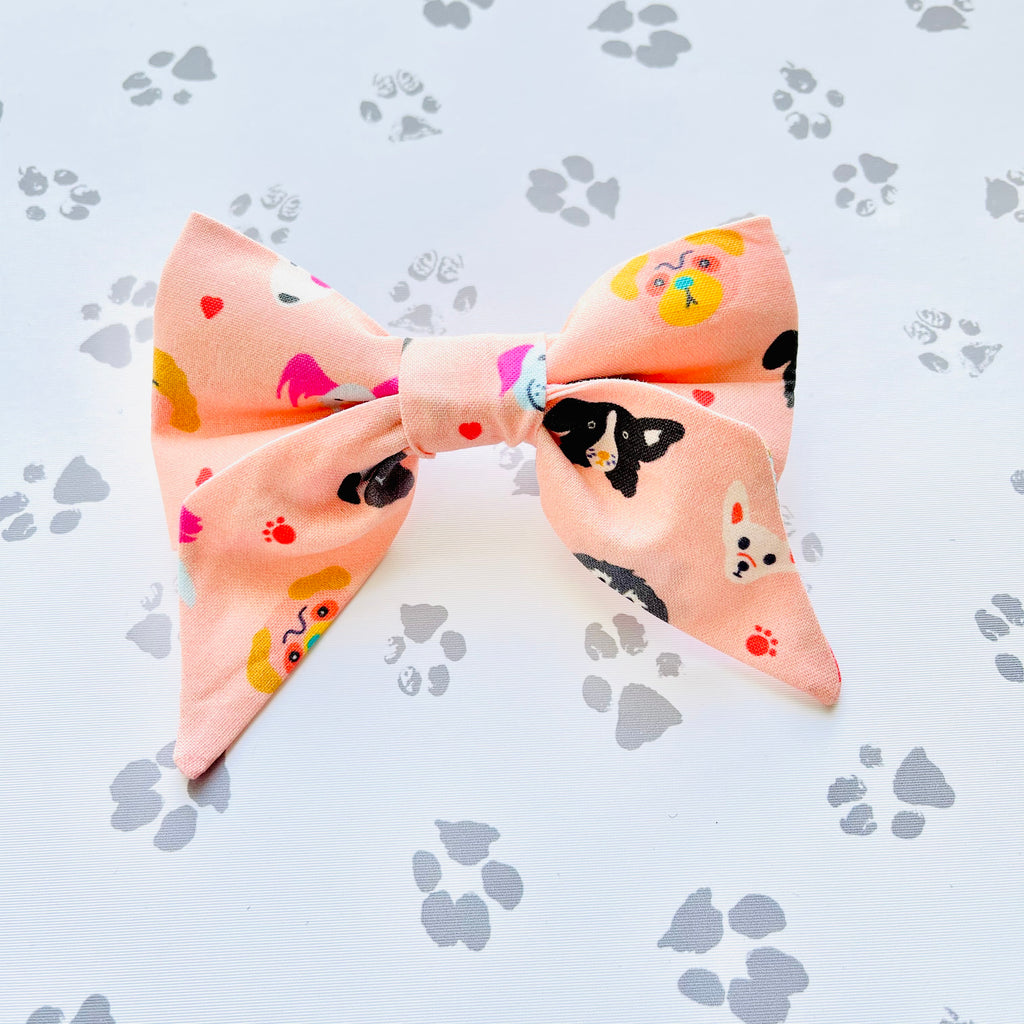 Colorful Dogs Sailor Bow