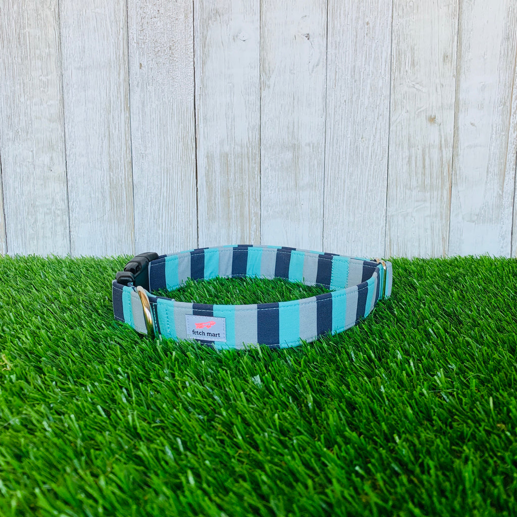Teal & Navy Stripes Leash