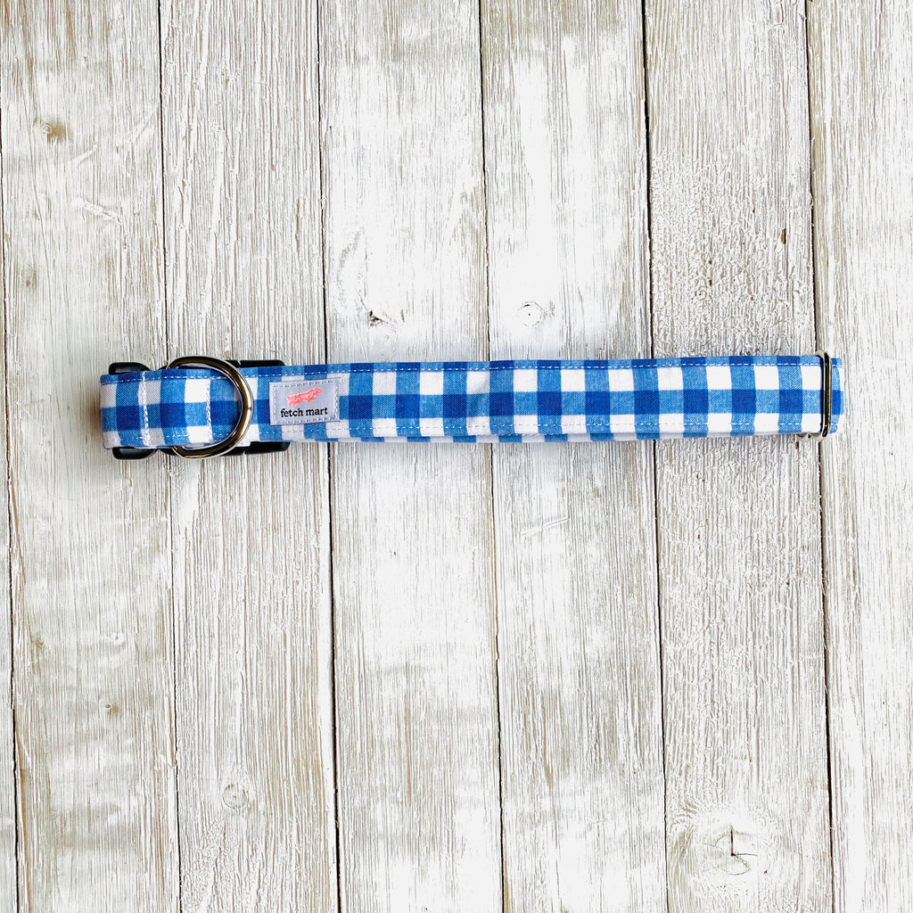 Blue Gingham Collar
