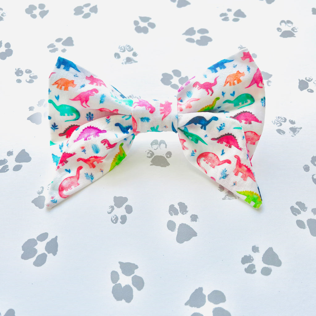 Multicolored Dinos Sailor Bow
