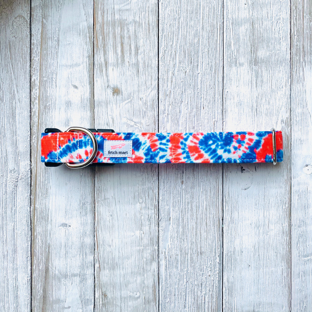 Red, White, & Blue Tie Dye Collar
