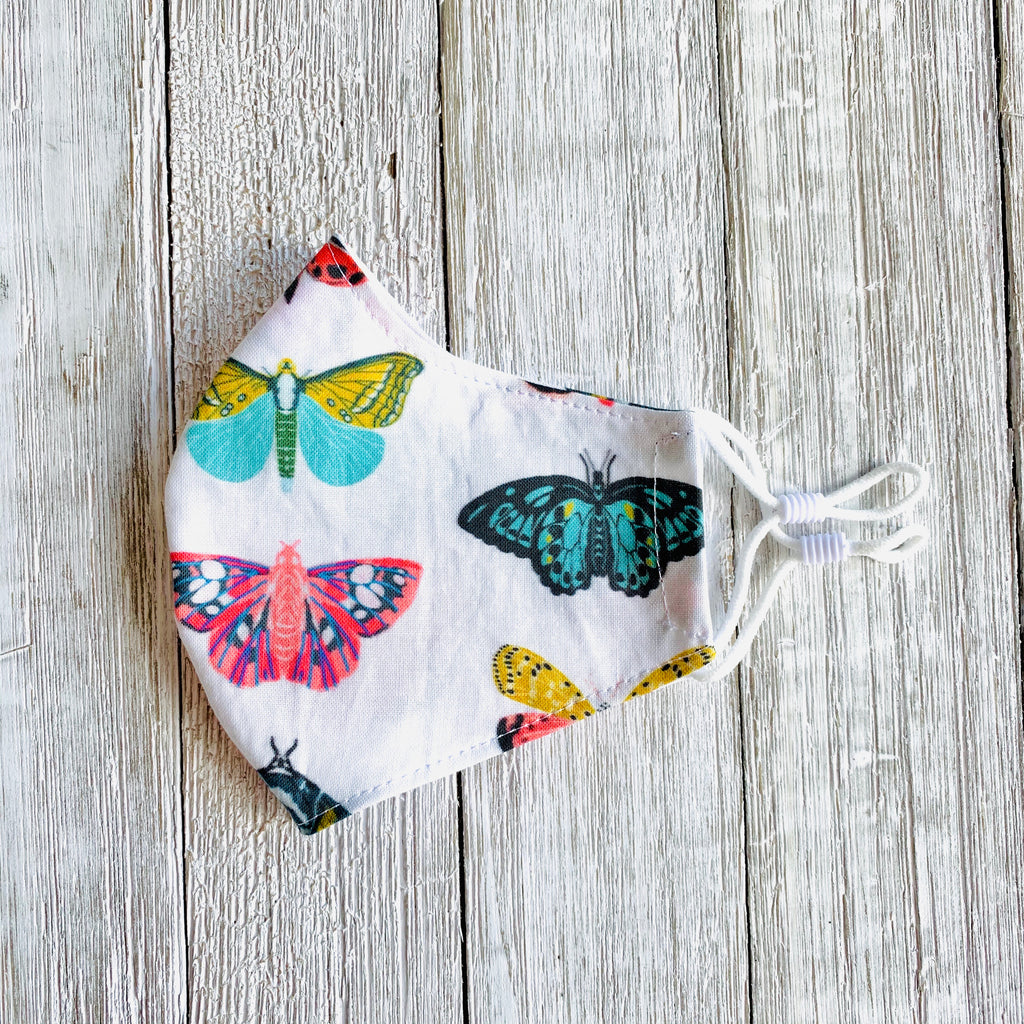Butterflies Fitted Mask