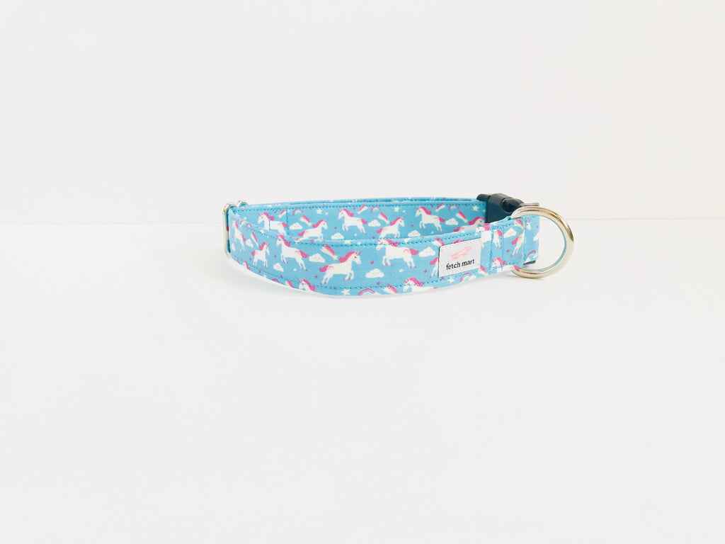 Rainbows & Unicorns in Blue Leash