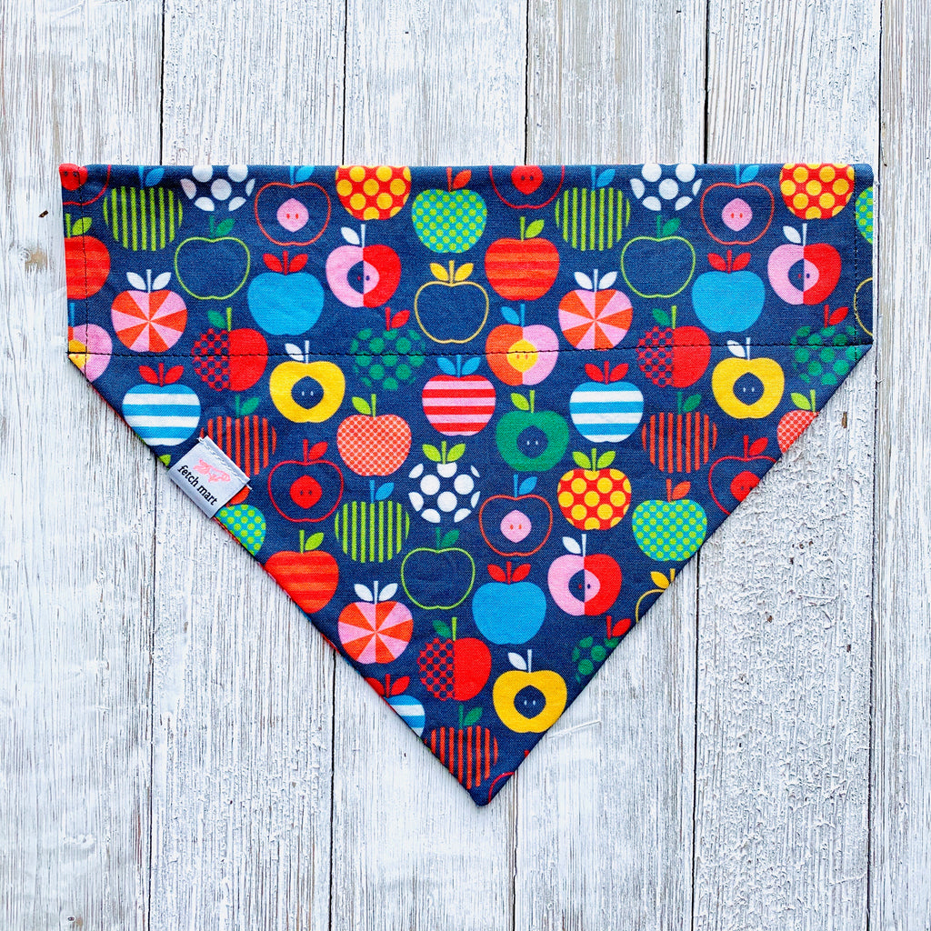 Scandinavian Apples in Navy Bandana