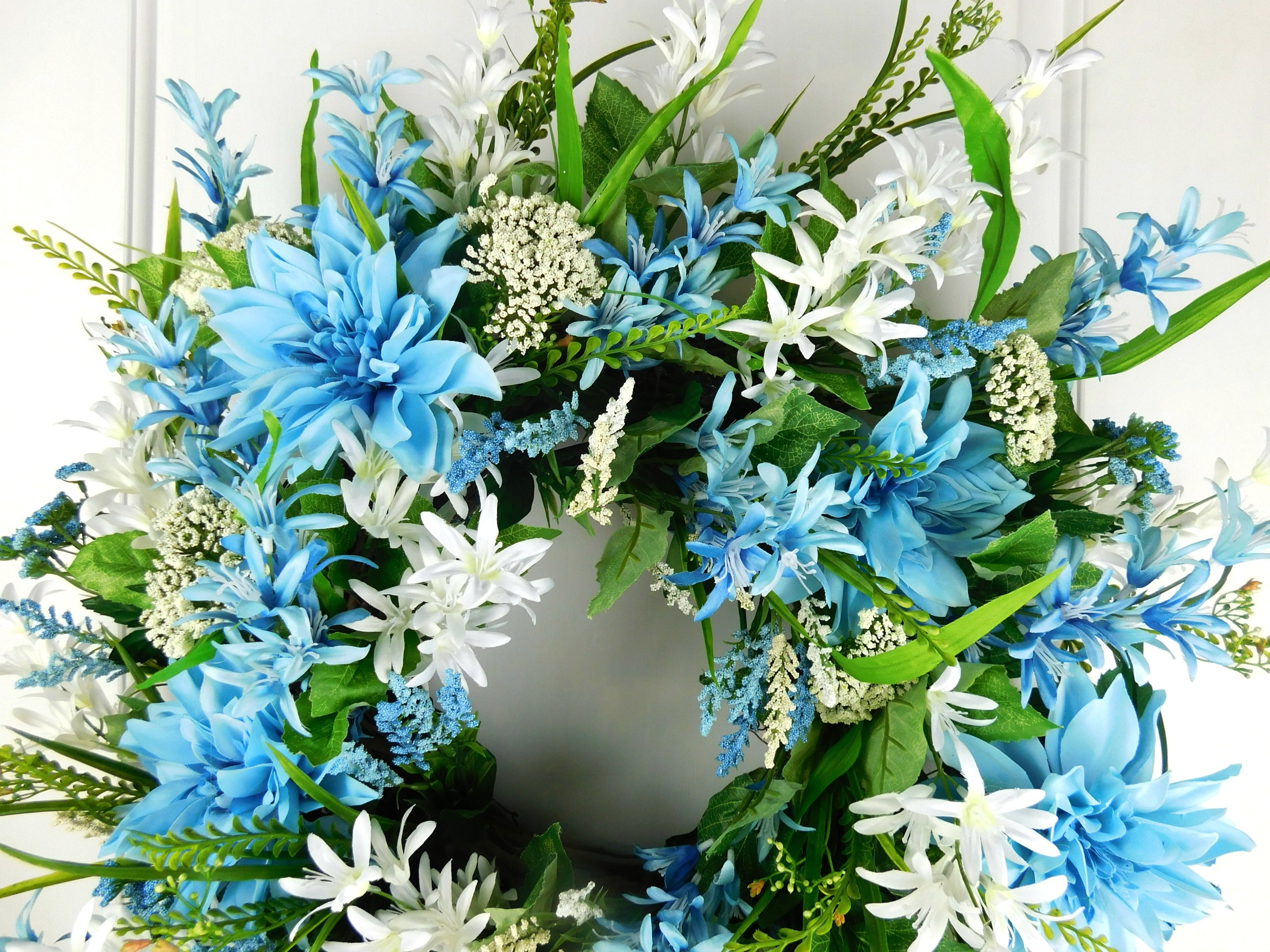 Blue and white wreath blue floral grapevine wreath virginia blue and white wreath blue floral grapevine wreath izmirmasajfo Gallery