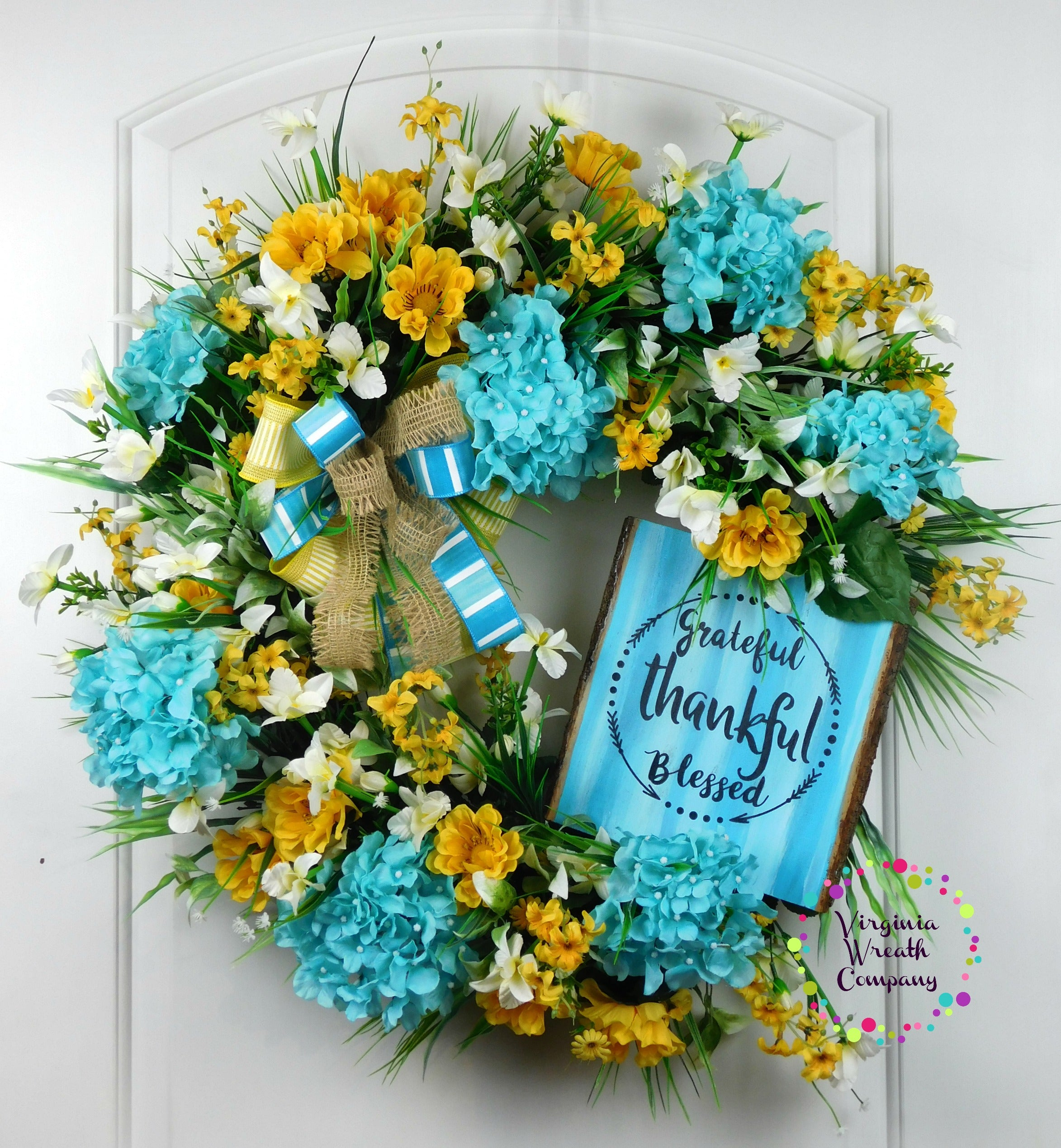 Blue hydrangea wreath blue floral wreath virginia wreath company blue hydrangea wreath blue floral wreath izmirmasajfo Gallery