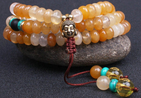 Handmade 108 Mala Natural Stone Necklace