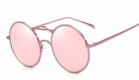 Round Vintage Mirrored Sunglasses