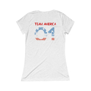 BOP AMERICA BE ONLY PEACEFUL Triblend Short Sleeve Tee