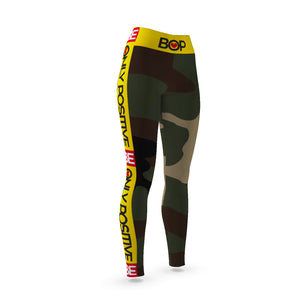 BE ONLY POSITIVE CAMO Yoga Leggings