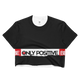 BE ONLY POSITIVE BLACK Crop Top
