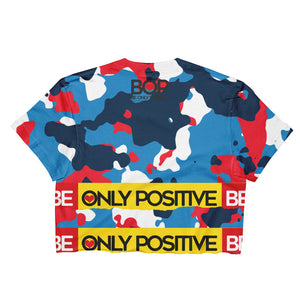 BE ONLY POSITVE USA TORN Crop Top