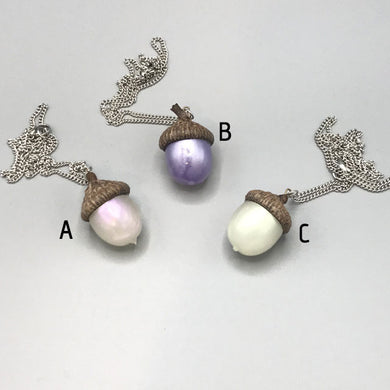 Acorn Pendants - Iridescent