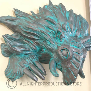 Baku Wall Mount - Bronze Patina Weathered Statue Set