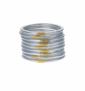 BuDhaGirl - All Weather Bangles - Silver