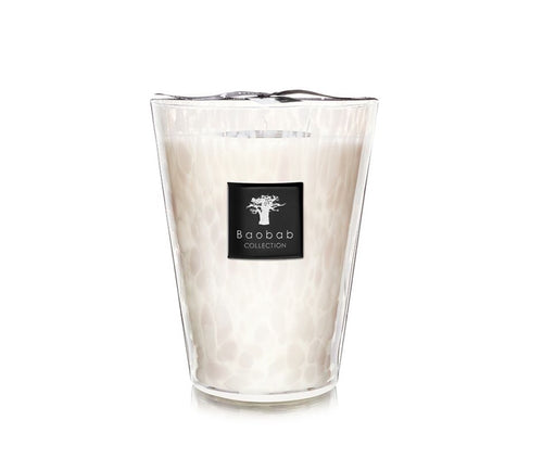 Baobab - White Pearls Candle - 24cm