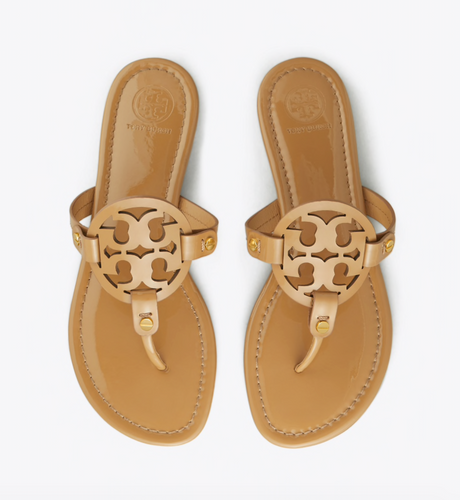 Tory Burch - Miller Sandal - Sand Patent Leather
