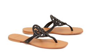 Tory Burch - Miller Square Toe Sandal  - Perfect Black