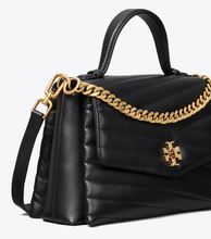Tory Burch - Kira Chevron Top Handle Satchel - Black