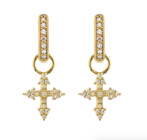 JF Provence Champagne Tiny Cross Earring Charms