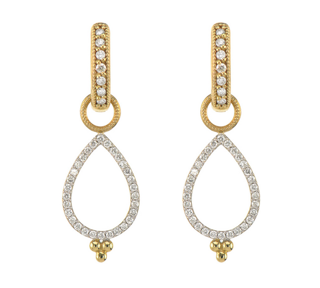 Jude Frances - Provence Delicate Open Pear Pave Earring Charms